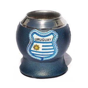 mate copa forrado con escudo de uruguay